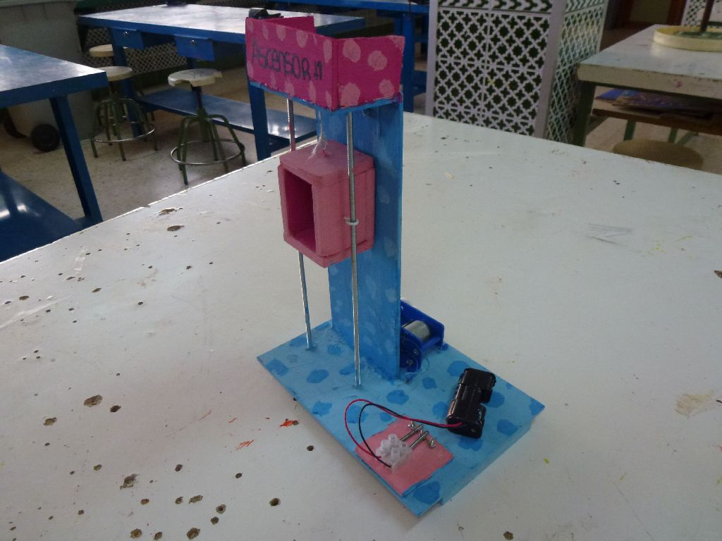 Fotos tecnolog a categor a 2 eso curso 2012 13 ascensor for Materiales para hacer un ascensor